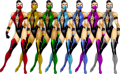 Female Ninjas 2D by ChamKham