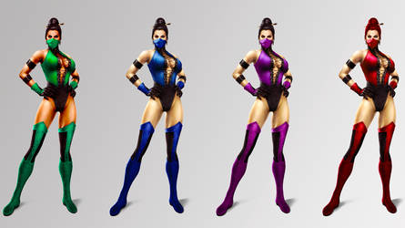 Female Ninjas UMK3 outfit by ChamKham