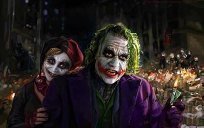 Joker and Harley Quinn by ChamKham
