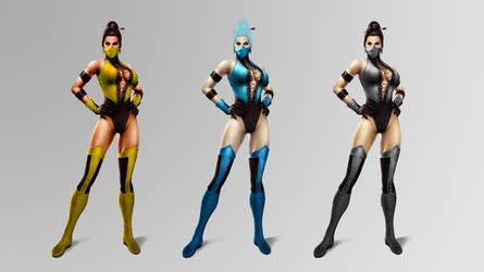 Other Female Ninjas UMK3 by ChamKham