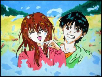 yusuke and keiko by rei-kawaii