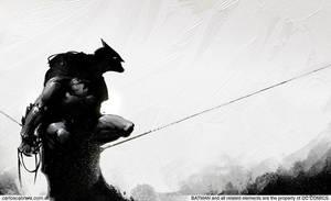 Batman black and white by artbycarlos