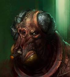 Alien Face 2010 by artbycarlos