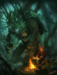 Hidebehind Creature by artbycarlos
