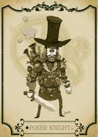 Poker knight-low by artbycarlos