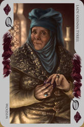 Game of Thrones card: Olenna Tyrell by Blu-Oltremare