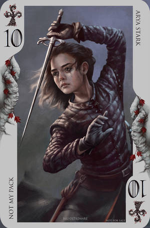 Game of Thrones card: ... Uhm. A girl has no name! by Blu-Oltremare