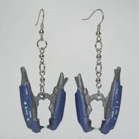 Halo Reach Plasma Rifle Earrings by swanboy