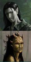 Three portraits by nattzvart