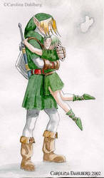 Link and Saria by nattzvart