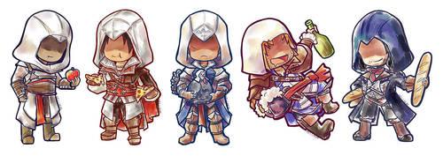 Chibi Assassins by NalinSketch