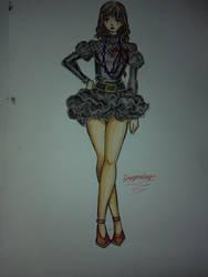 Croqui - Black dress by DragonSlayerDraw