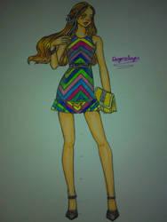 Croquis - raibow dress by DragonSlayerDraw