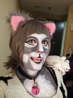 Newsprint @ FurFright with yellow cat eye lenses by toberkitty