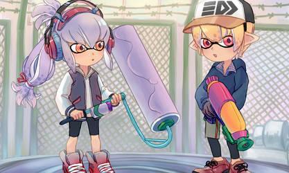 Squid Kids by bunnychii