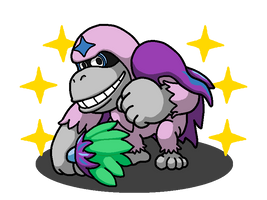 Shiny Oranguru + Donkey Kong by shawarmachine