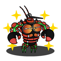 Shiny Buzzwole + Larry the Lobster (SpongeBob) by shawarmachine