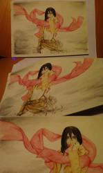 Mikasa Ackerman by Scream-stay-night