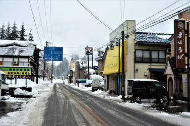 Centre of Tadami town by Furuhashi335