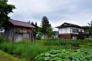Tadami town in humid summer by Furuhashi335