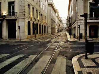 Silent street in Lisbon by Furuhashi335