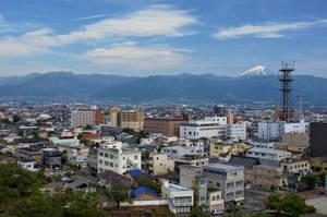 Kofu City View in May by Furuhashi335