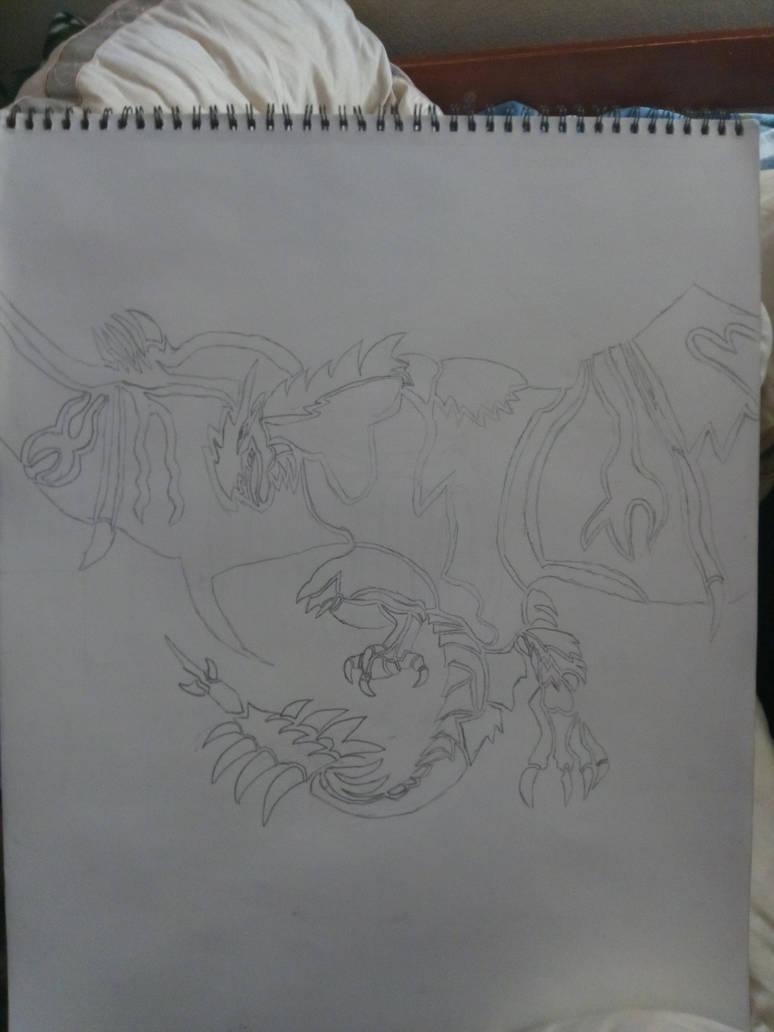 tribal tattoo of a rathalos by darkdraco-luna
