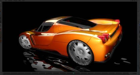 Cinema 4D - Ferrari Enzo Render by ragingpixels
