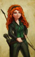 Merida 'Hawkeye' Dunbroch by RebeccaSorge