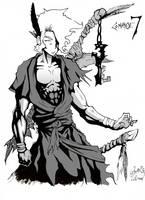 Comatose 7 chara3 (inked) by GreenYeti