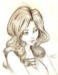 Girl sketch by GreenYeti