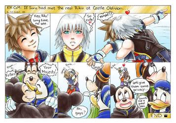 If Sora had met the real Riku by art-hobbit