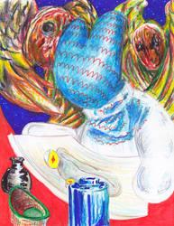 Angel Artist Jar by CountFangula