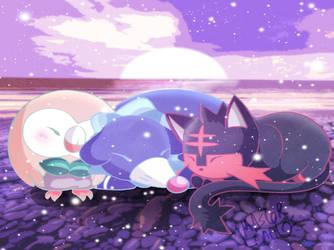 Cute Star Night Sleep by MasterLeahART
