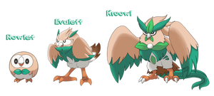 Rowlet Evolutions by MasterLeahART