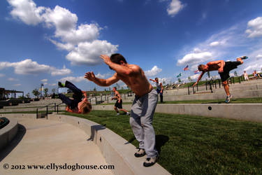 Midwest Parkour and Freerunning Jam - Stairs by ellysdoghouse