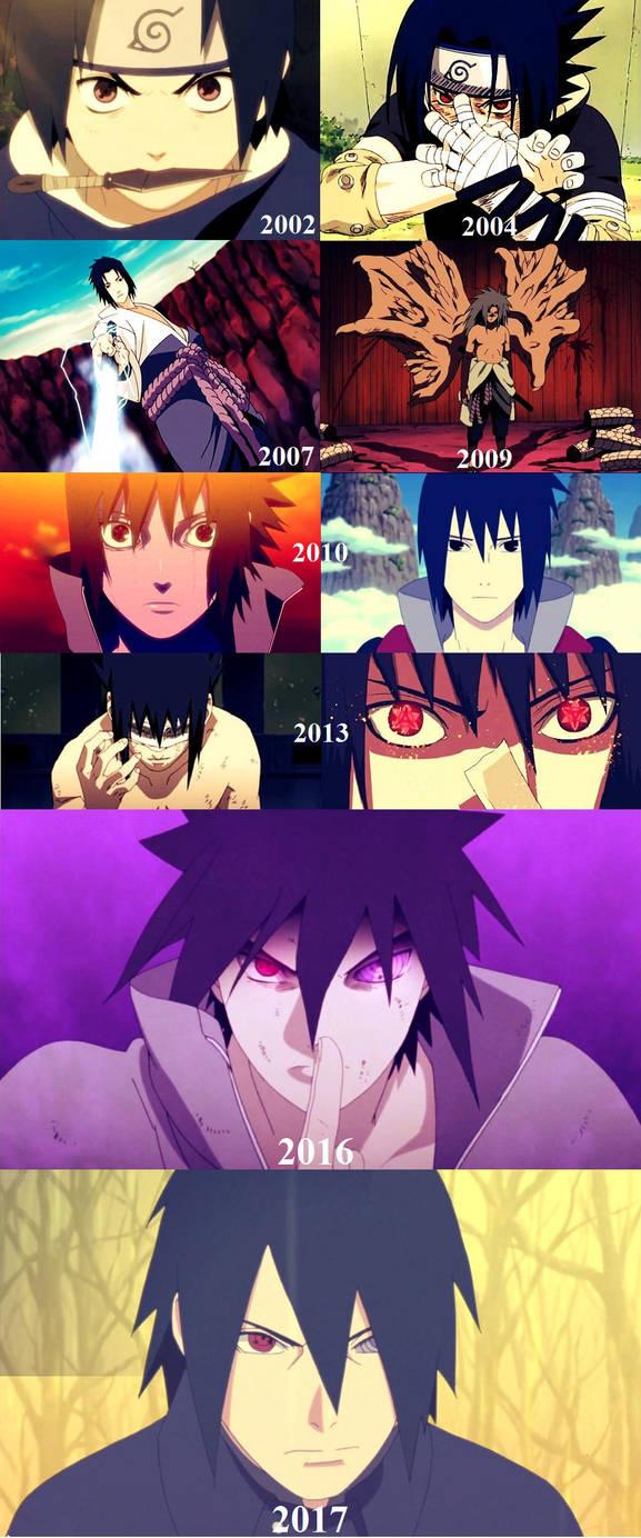 Sasuke From 2002 - 2017 by BorkoAlexMeriOscar
