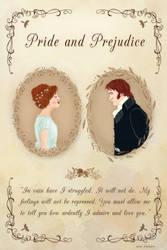Desenho Orgulho e Preconceito (Elizabeth e Darcy) by nizerff