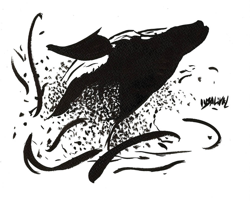 INKTOBER Day 12 - Whale by Insalival
