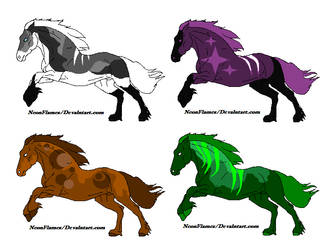 Horsies for sale by NeonFlamez