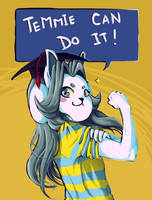 Temmie Can Do It by greenyswolf