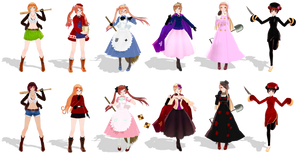 {MMD APH} Nyo!Allies DL+Pass~ by Drindrence