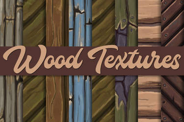 Hand-painted wood textures - Tileable by RC--GRAPHICS