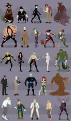 Gotham's Rogues by rickytherockstar