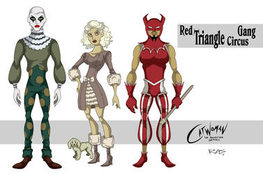Red Triangle Circus Gang by rickytherockstar
