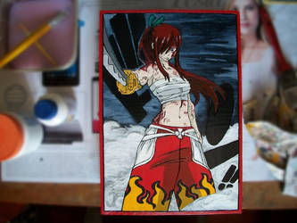 Erza Scarlet - Background Remake by Nolicedul