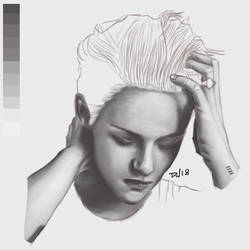 Kristen Stewart - Tracing + Painting by Nolicedul