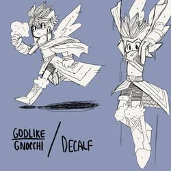 Angel man doodles by GodlikeGnocchi