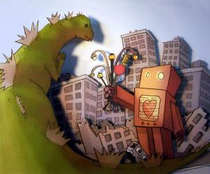 Godzilla in Love by failur3