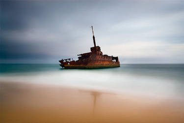 Wreck of the Sygna by brentbat